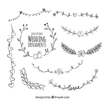 Hochzeitsdekoration mit modernem Stil