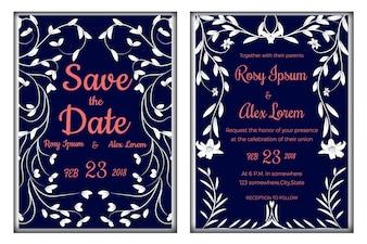 Hochzeitseinladung, sparen das Datum