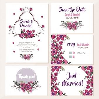 Hochzeitseinladungen Blumenentwurf
