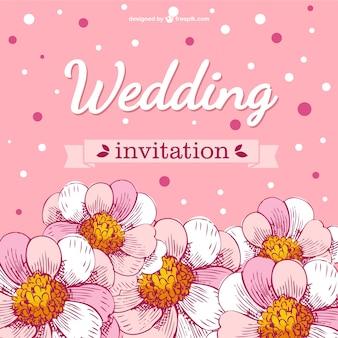 Hochzeitskarte Blumen Kirschblüten