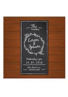 Hochzeitskarte Kreide Design