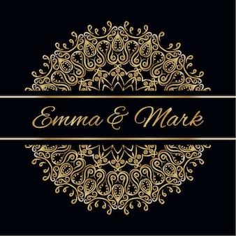 Hochzeitskarte mit Mandala-Design
