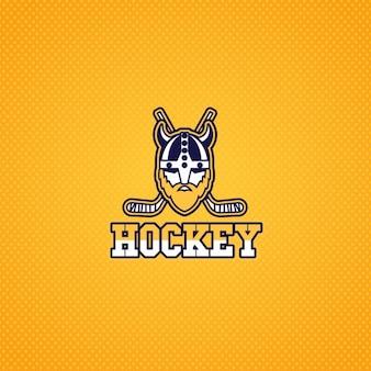 Hockey-Logo mit einem Wikinger