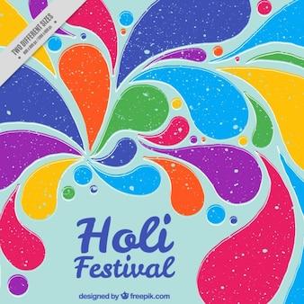Holi Festival Hintergrund im Vintage-Stil