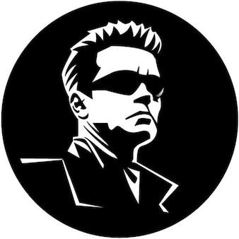 Hollywood-Schauspieler Porträt von Arnold Schwarzenegger