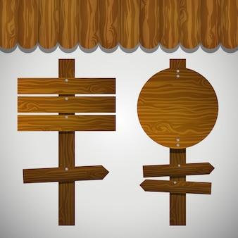 Holz Signale Sammlung