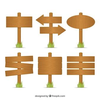 Holz singt Ansammlung