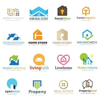 Home und Immobilien Logo Sammlung.