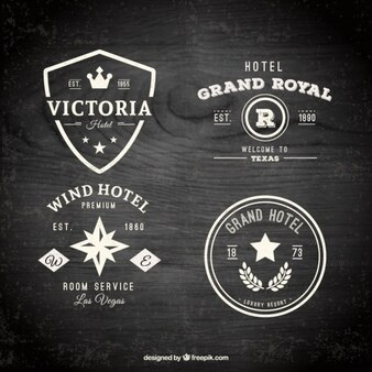 Hotel Abzeichen Packung im Flachdesign