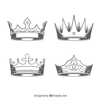 Hübsche Kronen in realistischem Design