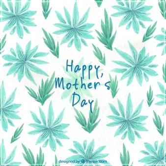 Hübscher Hintergrund mit Pflanzen in den grünen Tönen für Muttertag