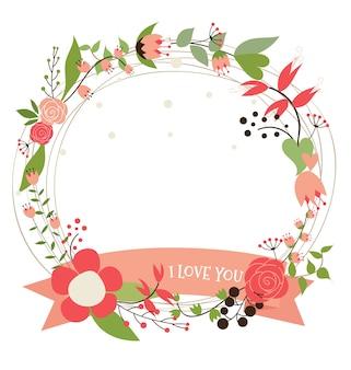 Ich liebe dich Blumen Kranz