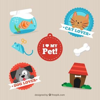 Ich liebe mein Haustier Etiketten packen