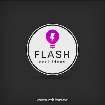 Ideen-Glühlampe-Logo