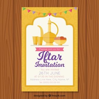 Iftar Einladung mit Tee-Set