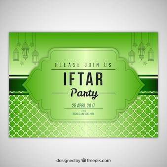 Iftar grüne Einladung