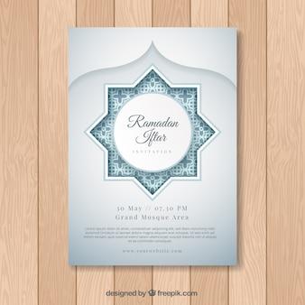 Iftar ramadan elegante Karte