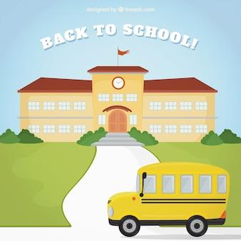 Illustration der wieder in die Schule