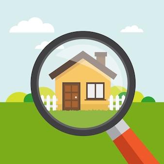 Immobilien-Hintergrund-Design