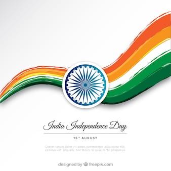 Indien Unabhängigkeitstag farbigen Hintergrund