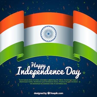 Indien Unabhängigkeitstag Hintergrund mit Flagge