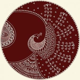 Indische Vogel Ornament