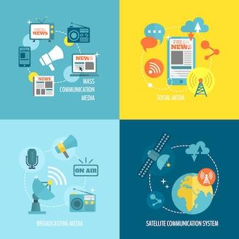 Infografie über Kommunikation