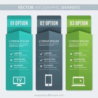 Infografik Banners Template Set