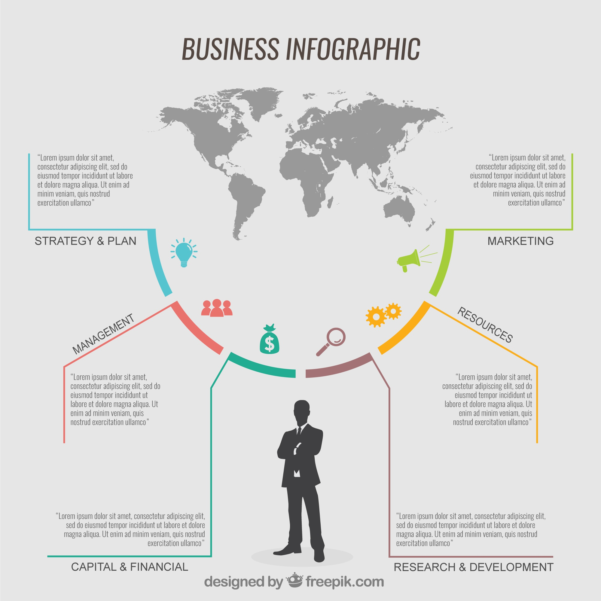 Infografik Business template