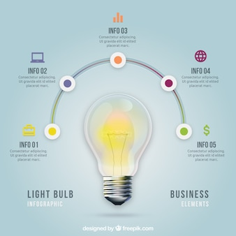 Infografik Light Bulb