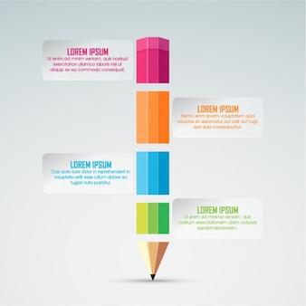 Infografik mit Bleistift-förmigen