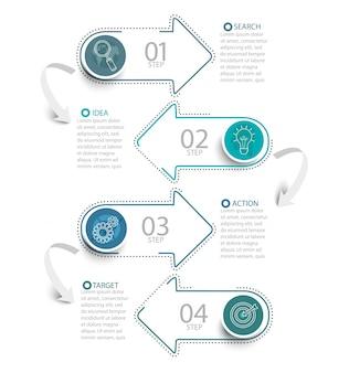 Infografik mit Pfeilen.
