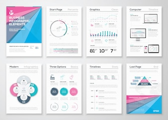 Infografische Business Broschüre Vorlagen für die Datenvisualisierung