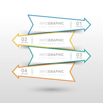 Infografisches Design mit Pfeilen