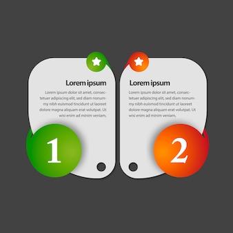 Infografisches einfaches Design mit Zahlen
