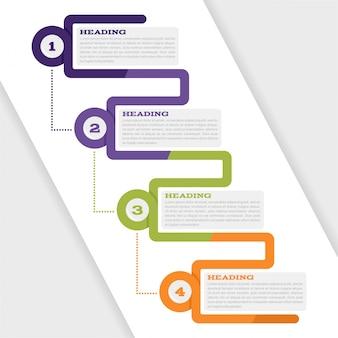 Infografisches Set für Webdesign und Präsentationen