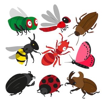 Insekten-Charakter-Design