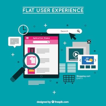 Ipad mit Website-Elementen