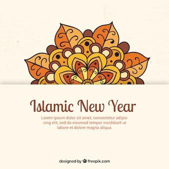 Islamischen Neujahr Hintergrund mit Mandala