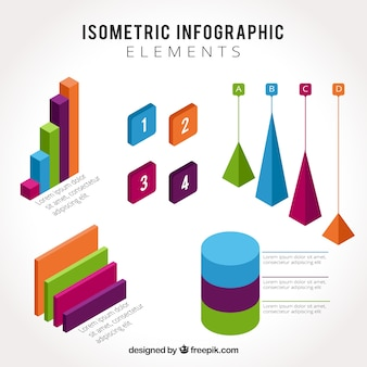 Isometrische infografische Elemente