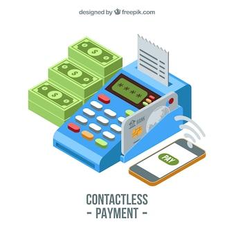 Isometrische Komposition der kontakolierten Bezahlung