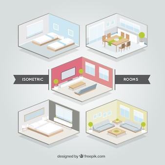 Isometrische Zimmer Set
