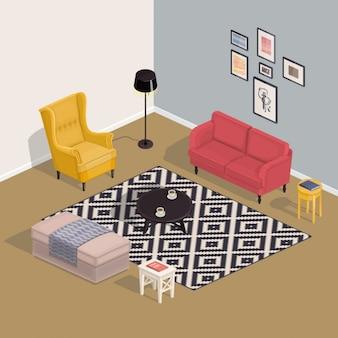 Isometrische Zimmer
