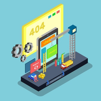 Isometrischer Fehler 404 Design