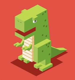 Isometrisches Dinosaurierentwurf