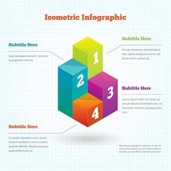 Isometrisches Infografik-Element