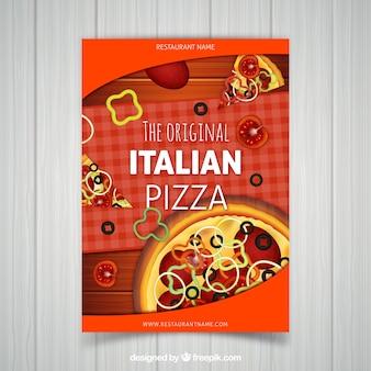 Italienische Pizza-Broschüre