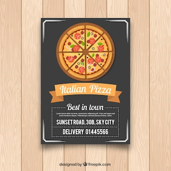 Italienischer Pizza-Flyer