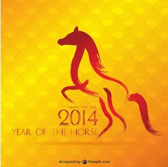 Jahr des Pferdes Vektor