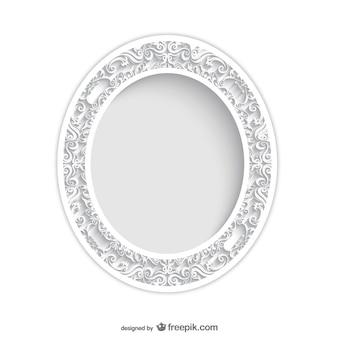 Jahrgang ovalen Rahmen